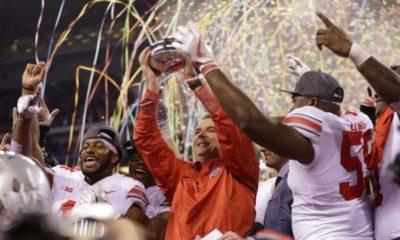 Ohio State-Urban Meyer-Big Ten championship-Big Ten championship trophy-Ohio State Buckeyes-Ohio State football