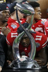 Ohio State-Jalyn Holmes-Cotton Bowl Classic-Ohio State Buckeyes-Ohio State football-Ohio State Cotton Bowl-Cotton Bowl trophy
