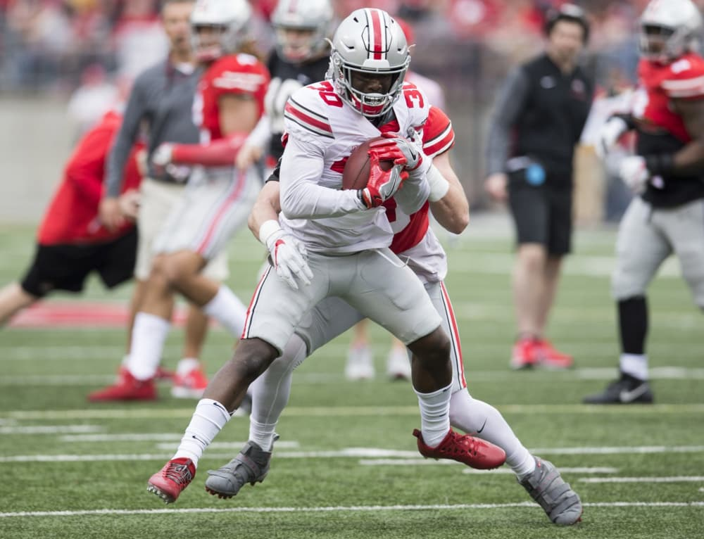 Ohio State-Demario McCall-Ohio State Buckeyes-H back-Ohio State football-depth chart-roster-2018