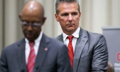 Urban Meyer-Michael Drake-Ohio State press conference-Urban Meyer suspended