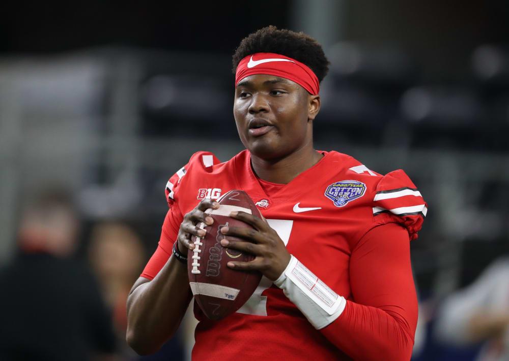 Dwayne Haskins warming up-Dwayne Haskins throwing-Ohio State-Ohio State quarterbacks