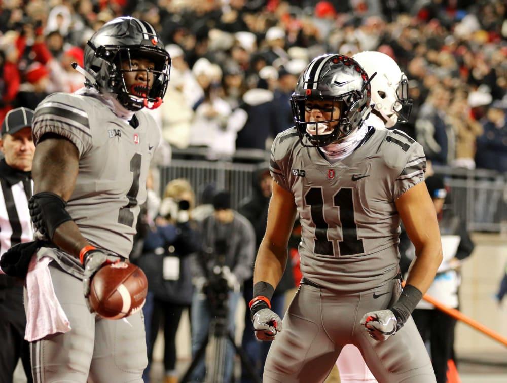 Johnnie Dixon-Ohio State wide receiver-Ohio State Buckeyes-Johnnie Dixon touchdown
