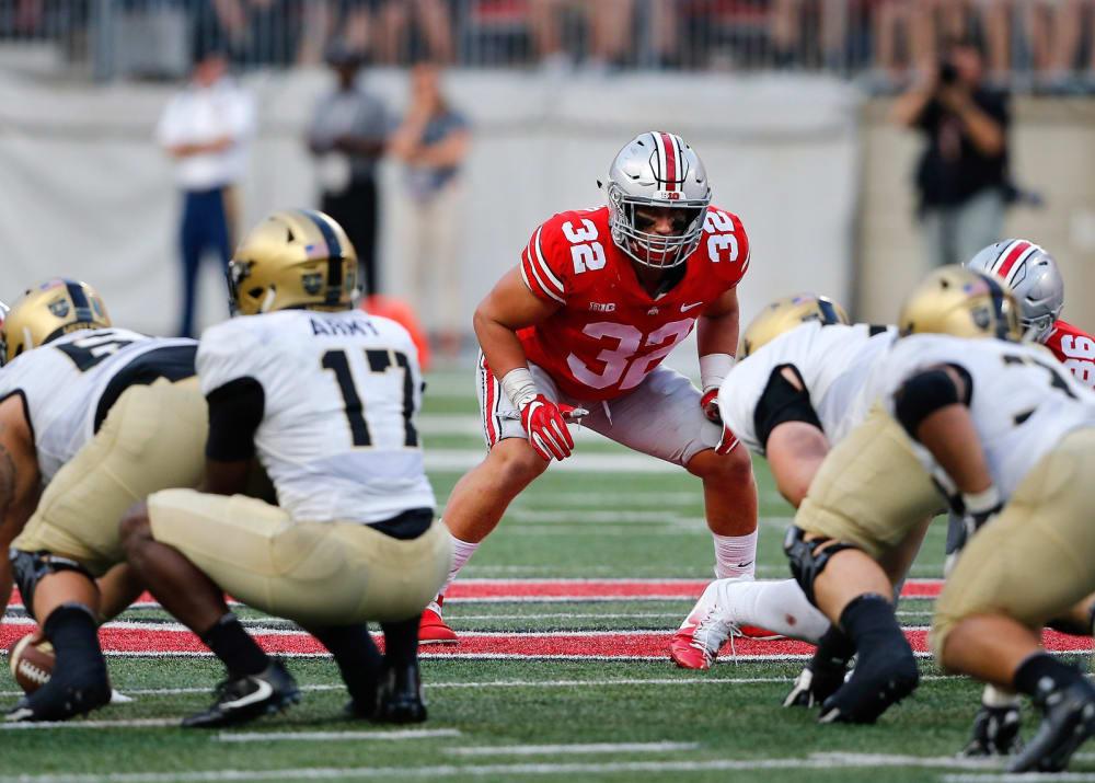 Borland-Tuf Borland playing for Ohio State-Ohio State linebacker