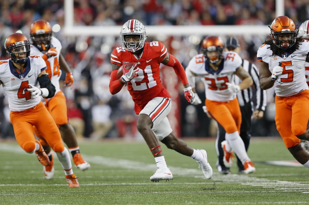 Parris Campbell running-Parris Campbell touchdown-Ohio State Buckeyes-Ohio State football