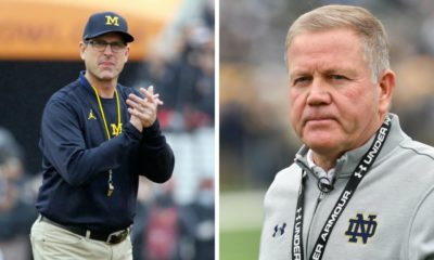 michigan-jim harbaugh-notre dame-brian kelly
