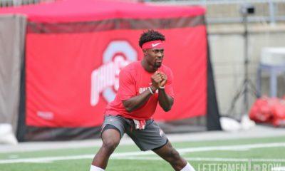 Jordan Fuller warming up-Jordan Fuller-Ohio State Buckeyes-Ohio State football-Jordan Fuller injury
