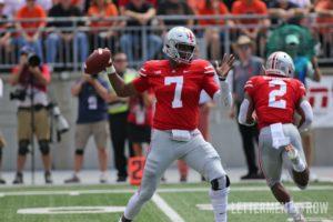 Dwayne Haskins passing-Dwayne Haskins throwing Ohio State-Ohio State Buckeyes-Dwayne Haskins