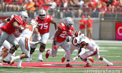 Mike Weber running-Ohio State Buckeyes-Ohio State-Mike Weber