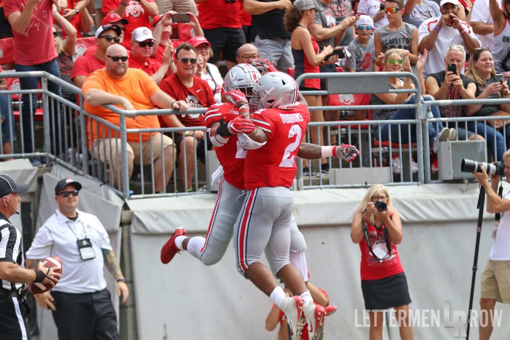 Ohio State-Mike Weber-J.K. Dobbins-Ohio State touchdown celebration