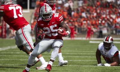 Mike Weber running-Mike Weber-Ohio State Buckeyes-Ohio State running back