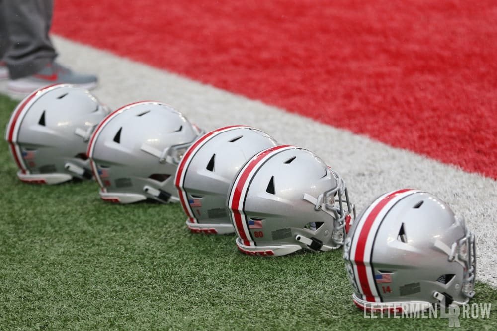 ohio state football-buckeyes football helmets-ohio state buckeyes football