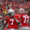 Dwayne Haskins celebrates-Dwayne Haskins-Ohio State-Ohio State touchdown-Ohio State Rutgers