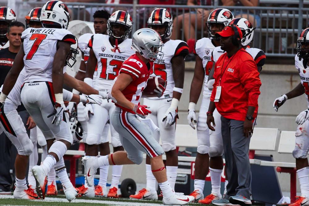 C.J. Saunders running-C.J. Saunders-Ohio State-Ohio State Buckeyes