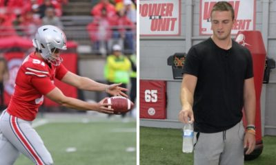 ohio state-drue chrisman-buckeyes-ohio state football-bottle flipping