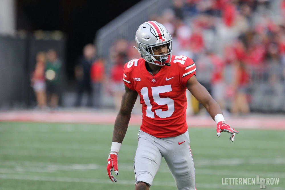 How does Austin Mack injury impact Ohio State wide receiver rotation?