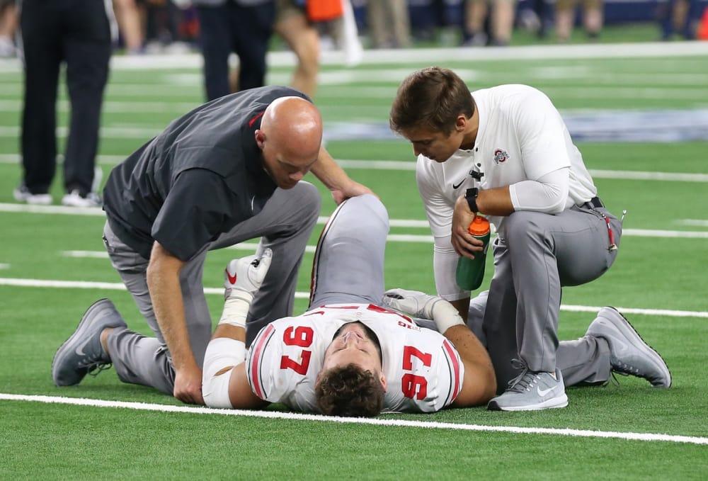 Nick Bosa-Ohio State-Buckeyes-Ohio State football-Ohio State Buckeyes-Nick Bosa injury