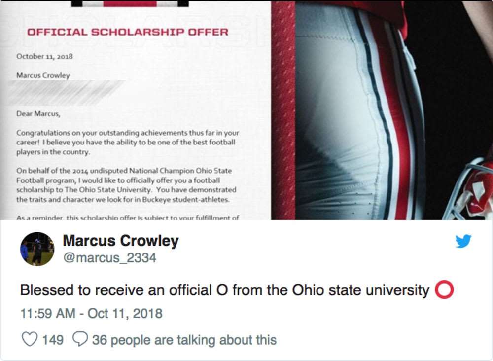 marcus crowley-ohio state offer