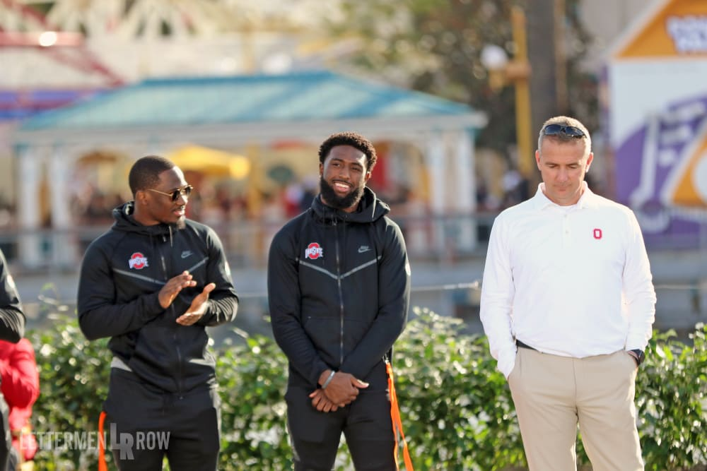 Urban Meyer-Parris Campbell-Johnnie Dixon-Ohio State-Buckeyes-Ohio State football
