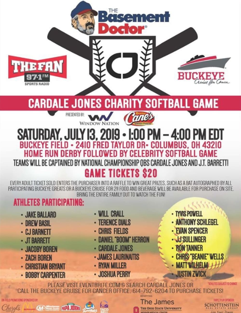 cardale jones charity softball