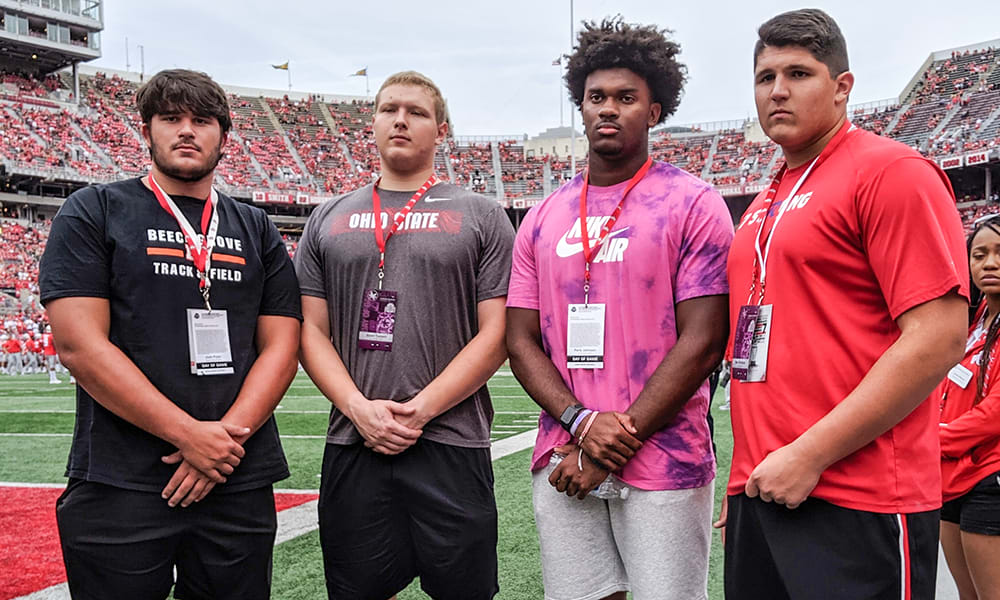 paris johnson-ben christman-josh fryar-grant toutant-ohio state-buckeyes-ohio state football
