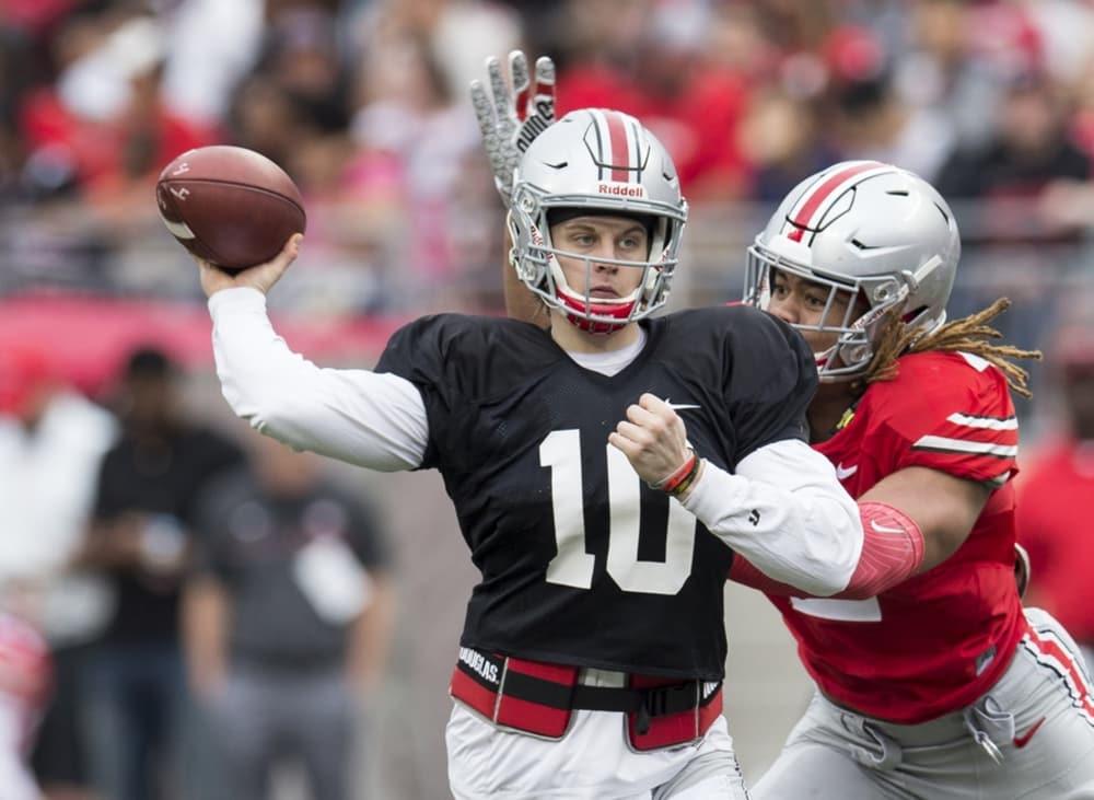 Joe Burrow-Ohio State-Buckeyes-Ohio State football-Chase Young