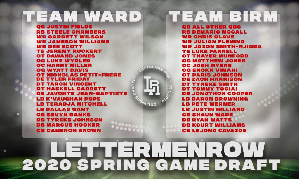 Ohio State-Lettermen Row-Buckeyes-Ohio State roster