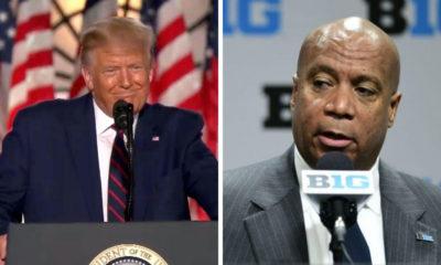 President Trump-Kevin Warren-Donald Trump-Big Ten commissioner